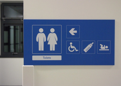 Toilet directions in situ