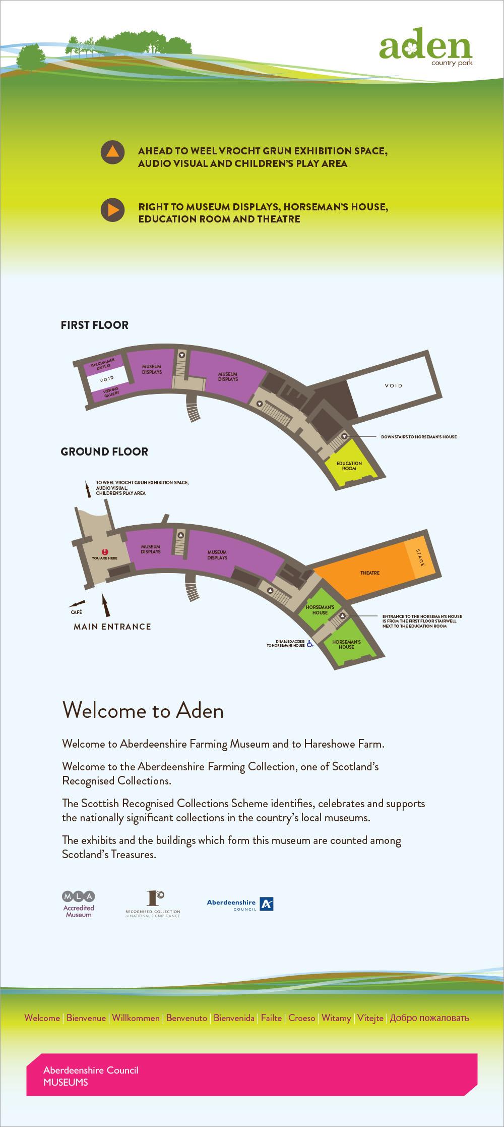 Museum and Hareshowe floor plan