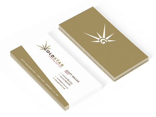 Gold Star business stationery