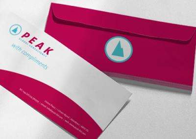 Peak business stationery