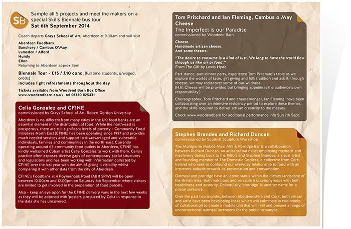 Information leaflet inside page