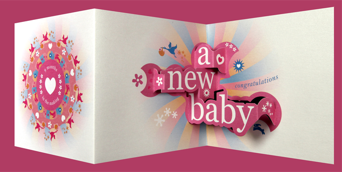 Nine Months in the Making – Baby Birthday Cards Design