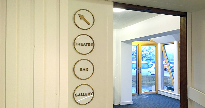 to reception area