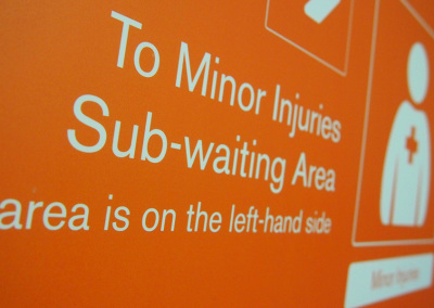 Minor Injuries Sub-waiting area direction