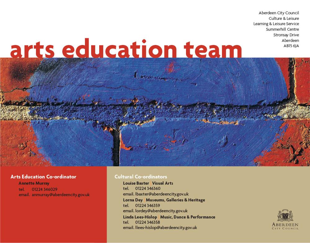 Arts education team top
