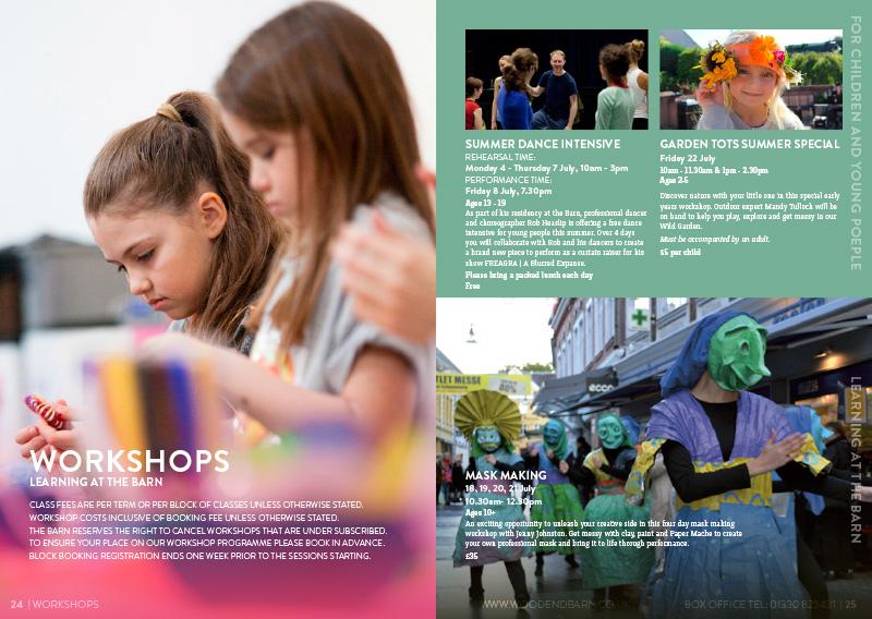 The Barn Programme spread June-September 2016
